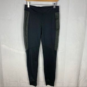 FREE PEOPLE skinny riding pants with suede panel